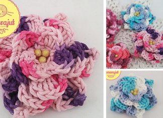 Stephanie's Fuzz Flower (Picot Style)