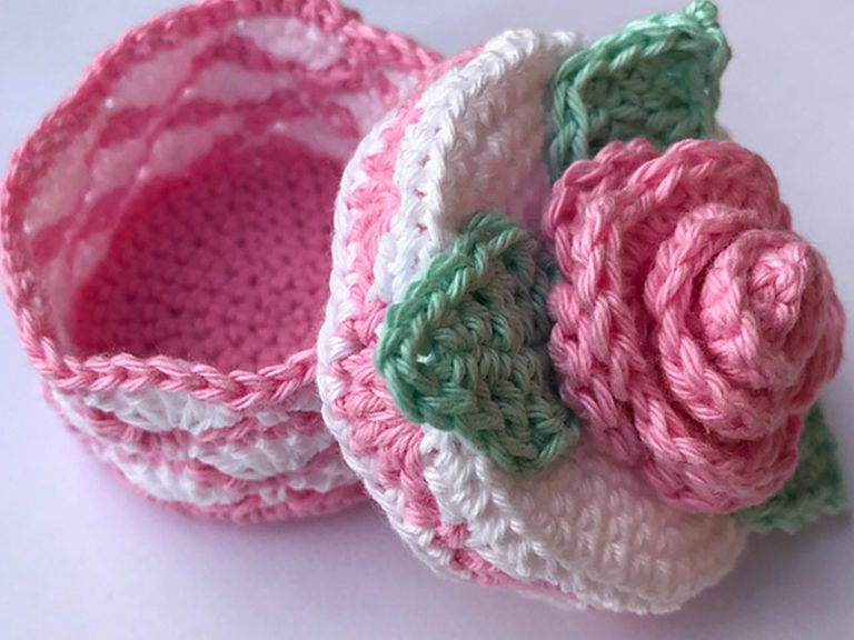 Romantic Rose Box Crochet Free Pattern