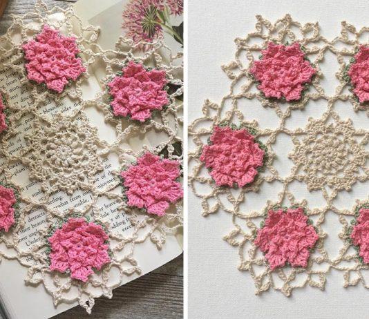 Talandra's Rose Doily Crochet Free Pattern