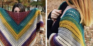 Warlock Triangle Shawl Crochet Free Pattern