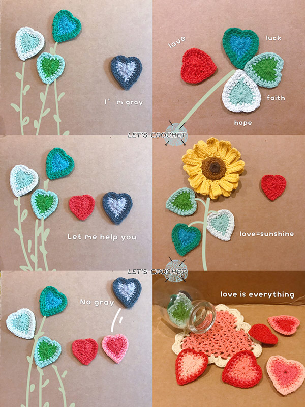 Easy Heart Coaster Crochet Free Pattern