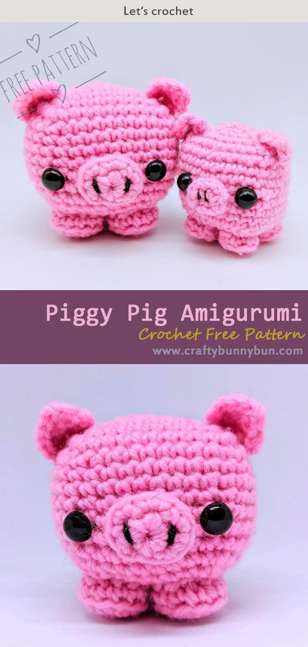 Cube Piggy Pig Amigurumi Crochet Free Pattern