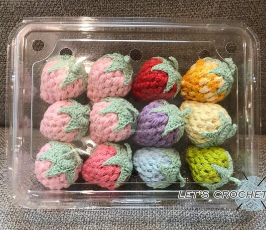 Crochet Easy Strawberry Free Diagram