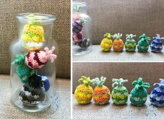 Crochet Mini Pineapple Free Diagram