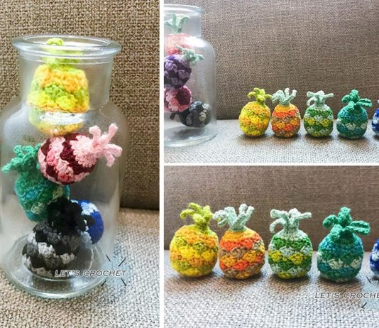 Crochet Mini Pineapple Free Diagram