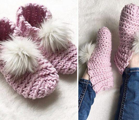 Lux Slippers Crochet Free Pattern