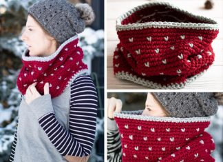 Snowfall Cowl Free Crochet Pattern