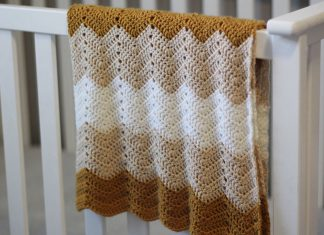 Wave Stitch Baby Blanket Free Crochet Pattern