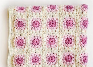 Bloom Afghan Throw Blanket Crochet Free Pattern