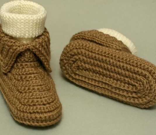 Soccasin Booties Crochet Free Pattern