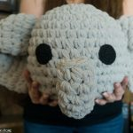 Elephant Pillow Crochet Free Pattern