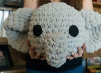 Elephant Pillow Crochet Free Pattern
