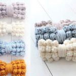 Chunky Bobble Bows Free Crochet Pattern