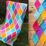SUMMER HARLEQUIN BLANKET CROCHET FREE PATTERN