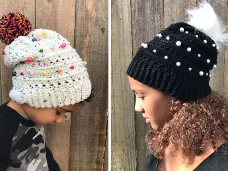 The XOXO Slouch Hat Free Crochet Pattern