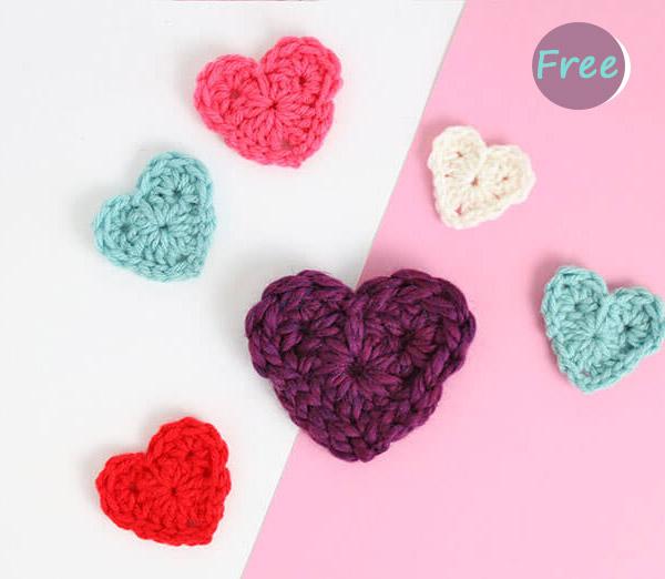 easy Heart Crochet Free Pattern