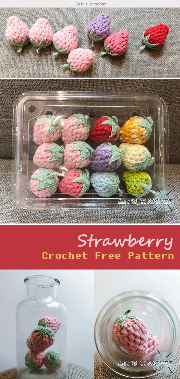 Crochet Easy Strawberry Free Pattern