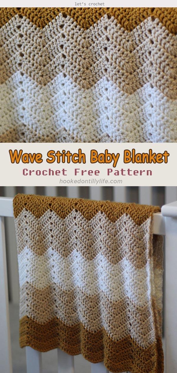Wave Stitch Baby Blanket Free Crochet Pattern