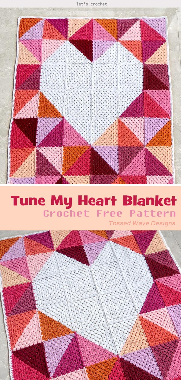 Tune My Heart Blanket Free Crochet Pattern