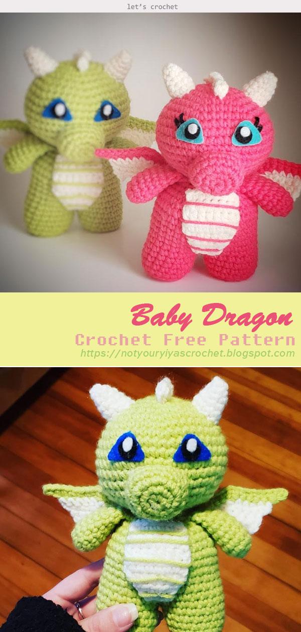Baby Dragon Amigurumi Crochet Free Pattern