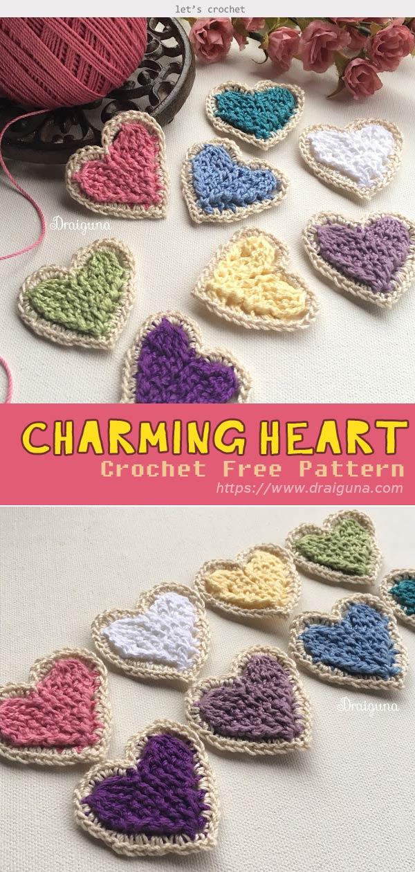 Charming Heart Crochet Free Pattern