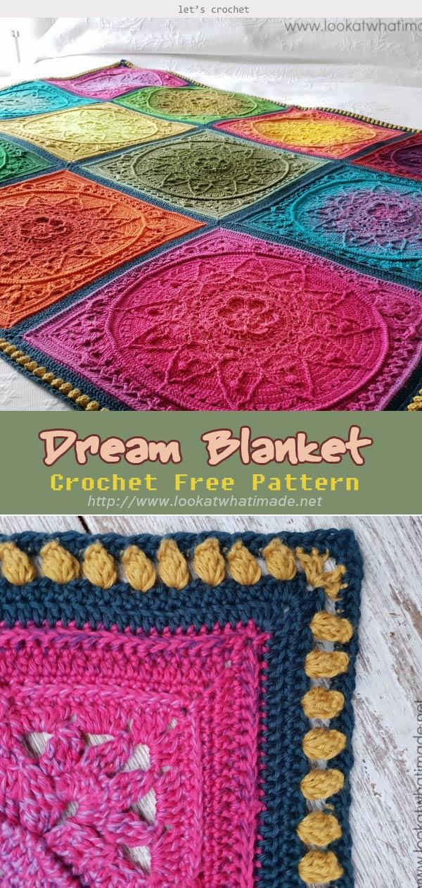 Dream Blanket Crochet Free Pattern