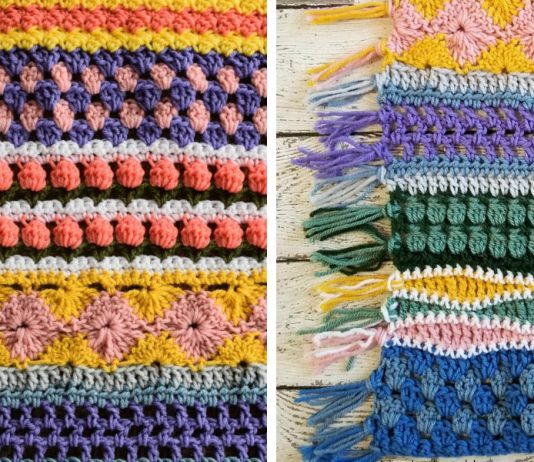 Stitch Sampler Scrapghan Free Crochet Pattern