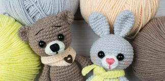 Tiny Bunny and Bear Amigurumi Free Crochet Pattern