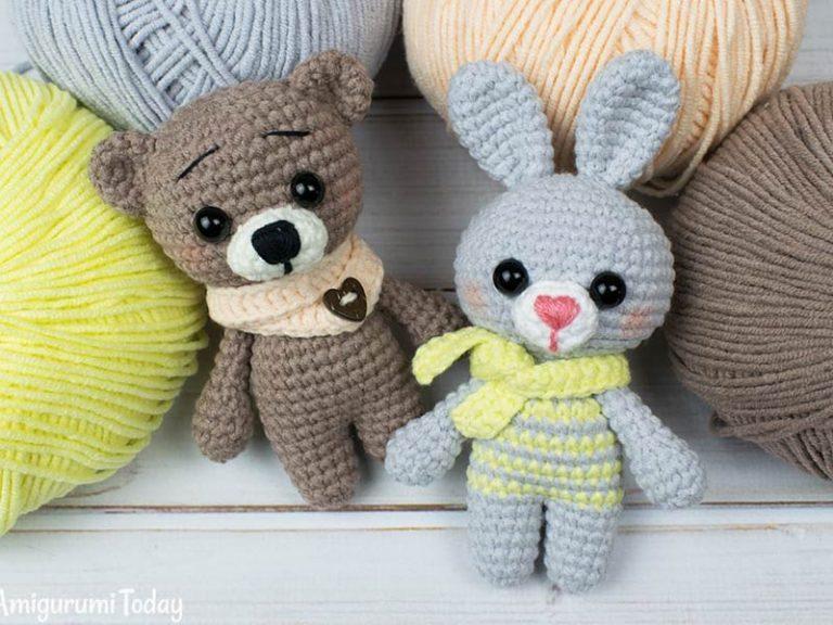 Tiny Bunny and Bear Amigurumi Free Crochet Pattern