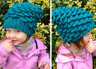 Mermaid Slouchy Hat Crochet Free Pattern