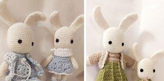 Amigurumi Bunny Family Crochet Free Pattern