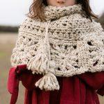 Granny Square Capelet Crochet Free Pattern