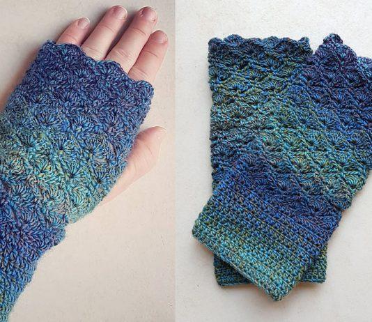 Stormy Seas Gloves Crochet Free Pattern