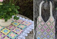 Little Wilde Flower Square Crochet Free Pattern