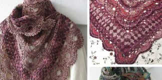 Virus Meets Granny Shawl Crochet Free Pattern