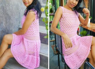 Granny Stitch Dress Crochet Free Pattern