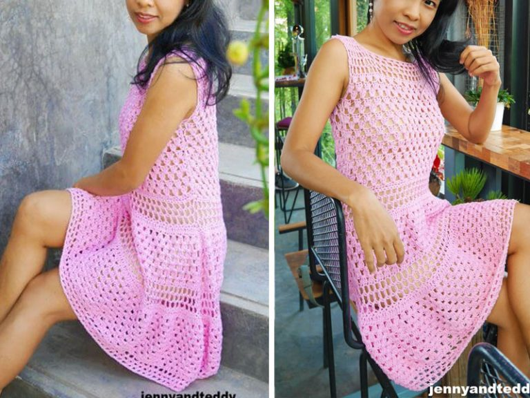 Granny Stitch Dress Crochet Free Pattern