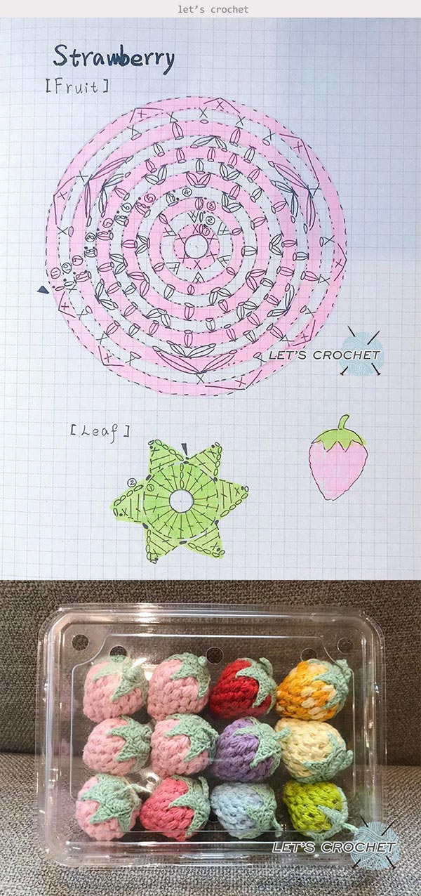 Crochet Easy Strawberry Free Diagram Pattern