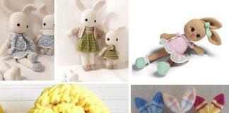 4 Amigurumi Bunny Family Crochet Free Pattern