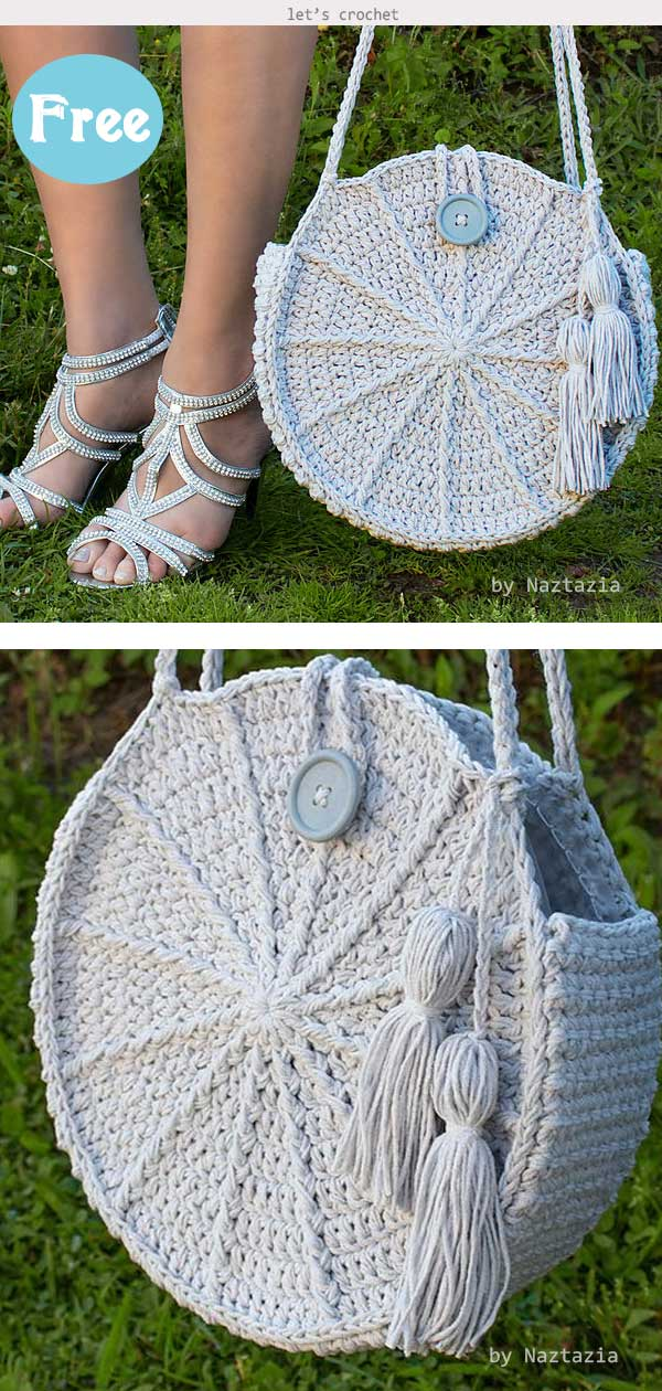 Round Purse Bag Crochet Free Pattern
