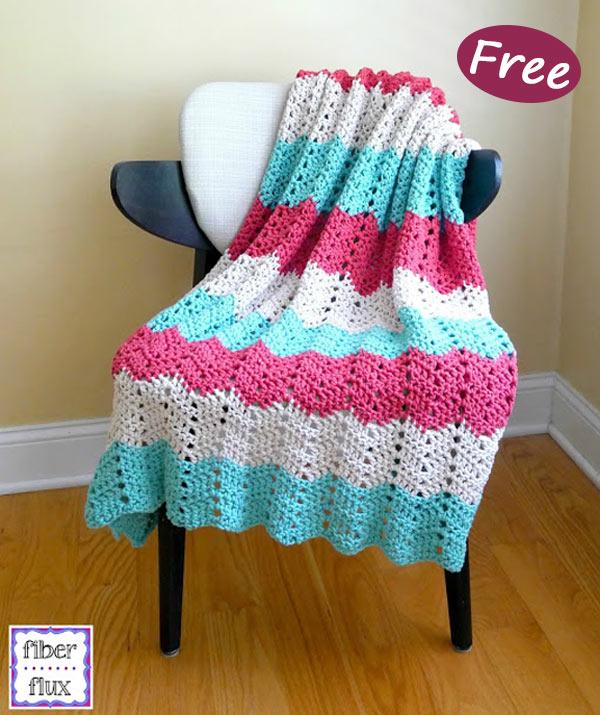 Boardwalk Breeze Blanket Crochet Free Pattern