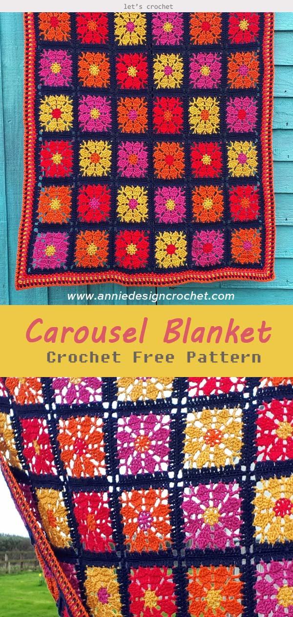 Carousel Blanket Crochet Free Pattern