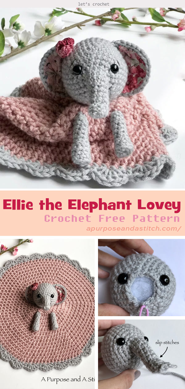 Ella the elephant and her boy friend | Crochet elephant pattern ... | 1260x600