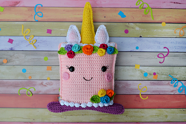 Unicorn Cake Kawaii Cuddler Crochet Free Pattern