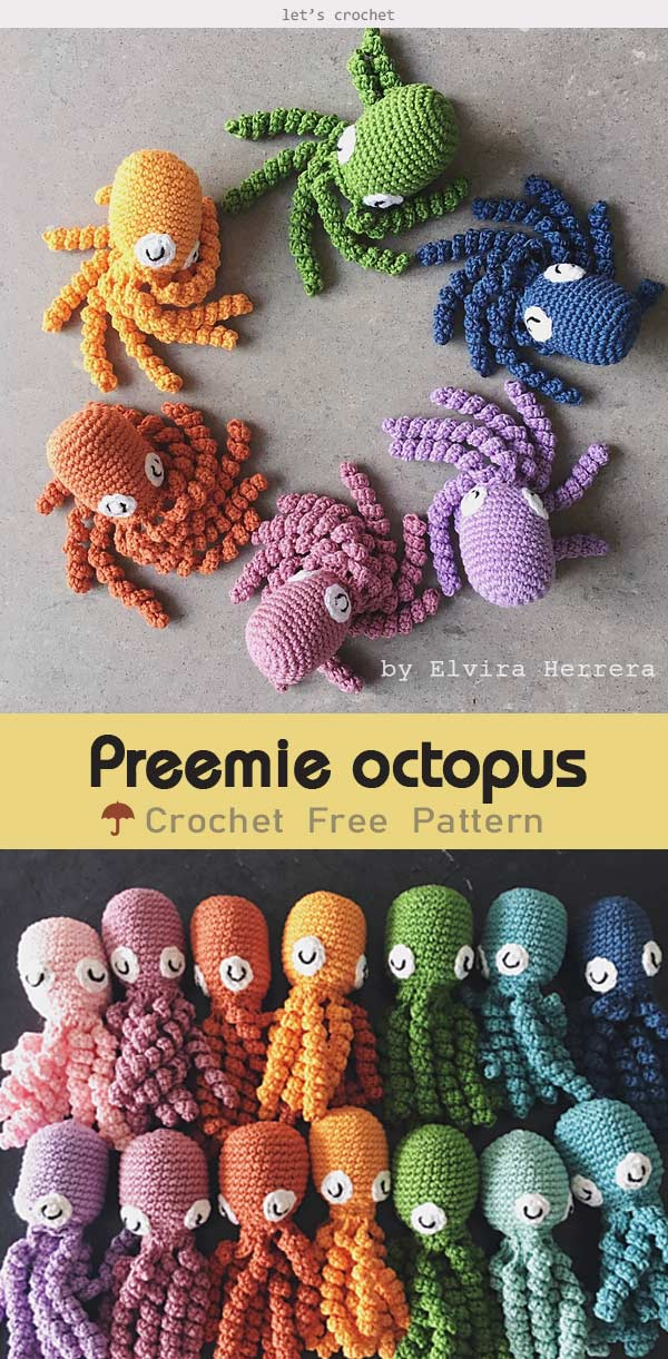 Make an amigurumi octopus with this simple free pattern! | Octopus ... | 1221x600