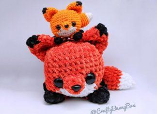 Cube Foxy Fox Amigurumi Crochet Free Pattern
