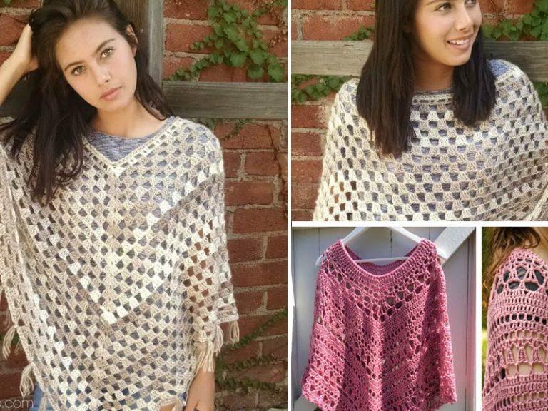 Timeless Boho Poncho Crochet Free Pattern