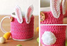 Easter Bunny Mug Cozy Free Crochet Pattern