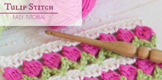 The Tulip Stitch Crochet Free Pattern