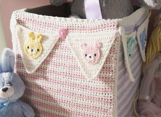 Royal Cube Cozy Basket Crochet Free Pattern